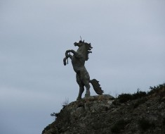 Unicorn Statue - Photo by Kglavin (Wikimedia)